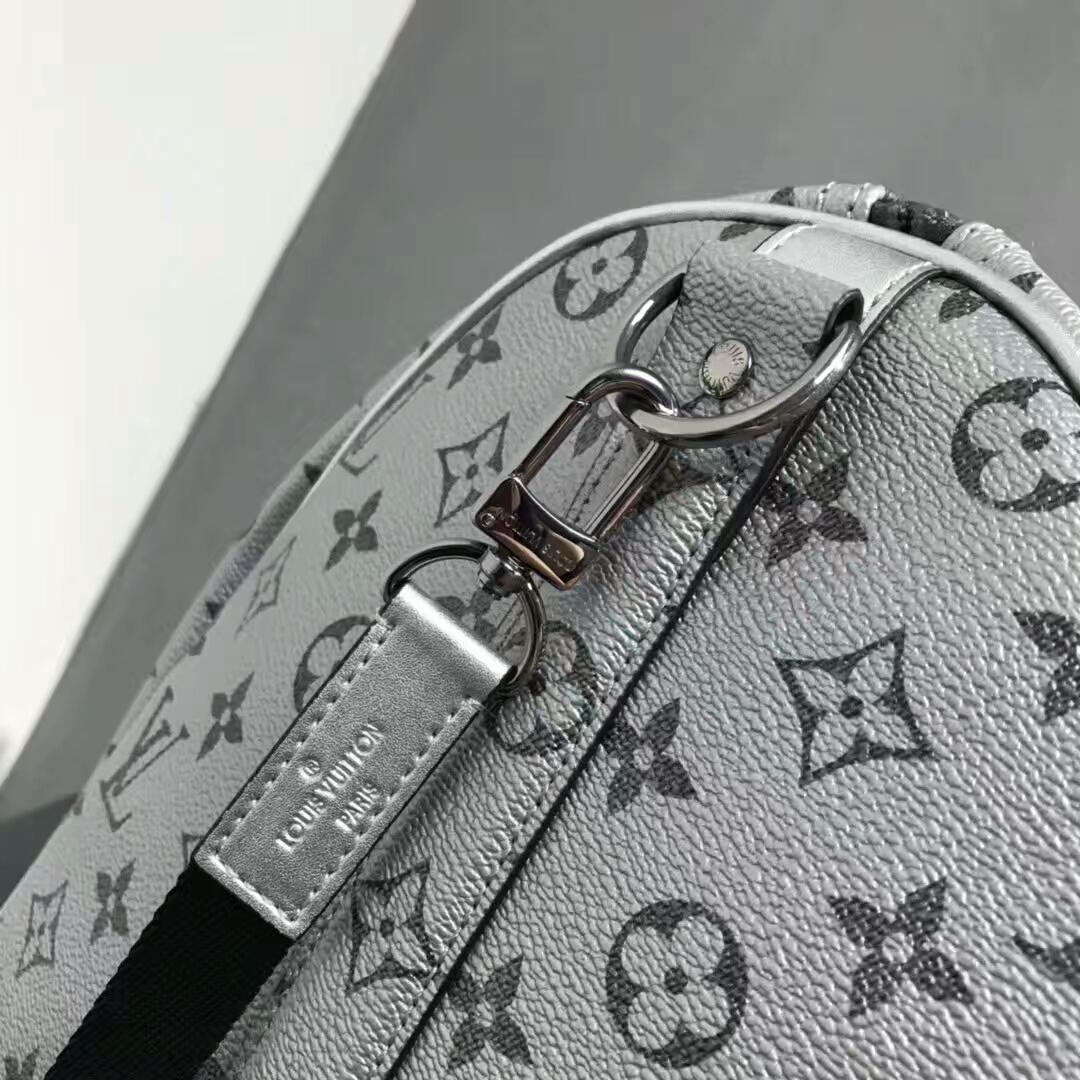 LV男士包包 出行必备旅行袋43835 拉风又实用50cm 珠光银
