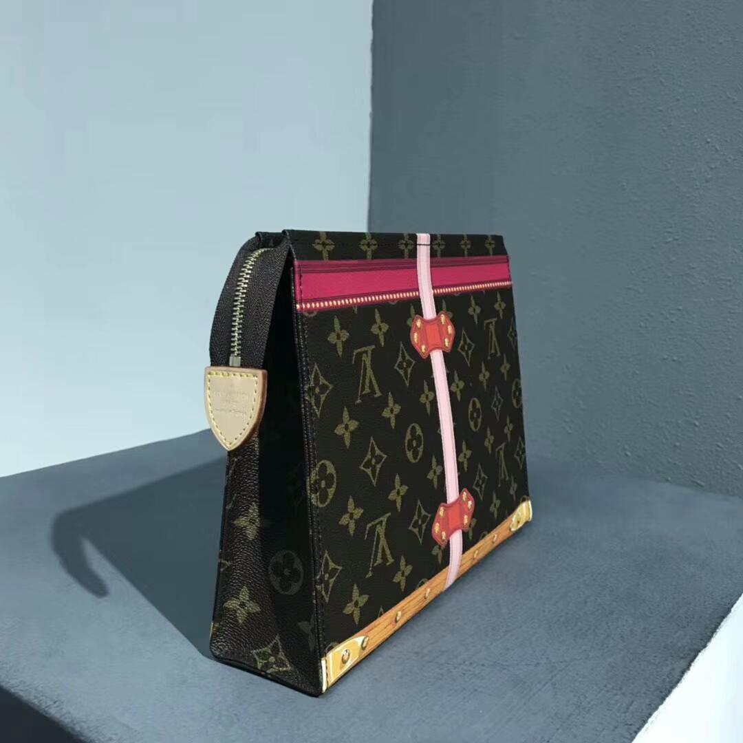 路易威登包包 LV2018春夏新款手包41807 经典带着少女风 卡通手绘风格