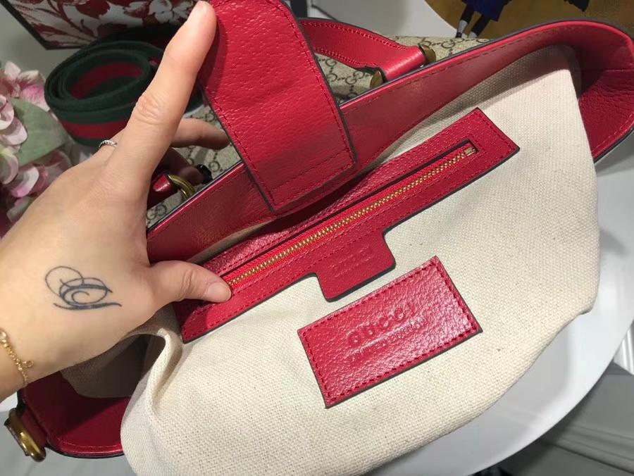 Gucci 特别推出以萌犬为主角的中国新年特别托特包 473887 粉色 配全套包装礼盒 27.5×22×11cm