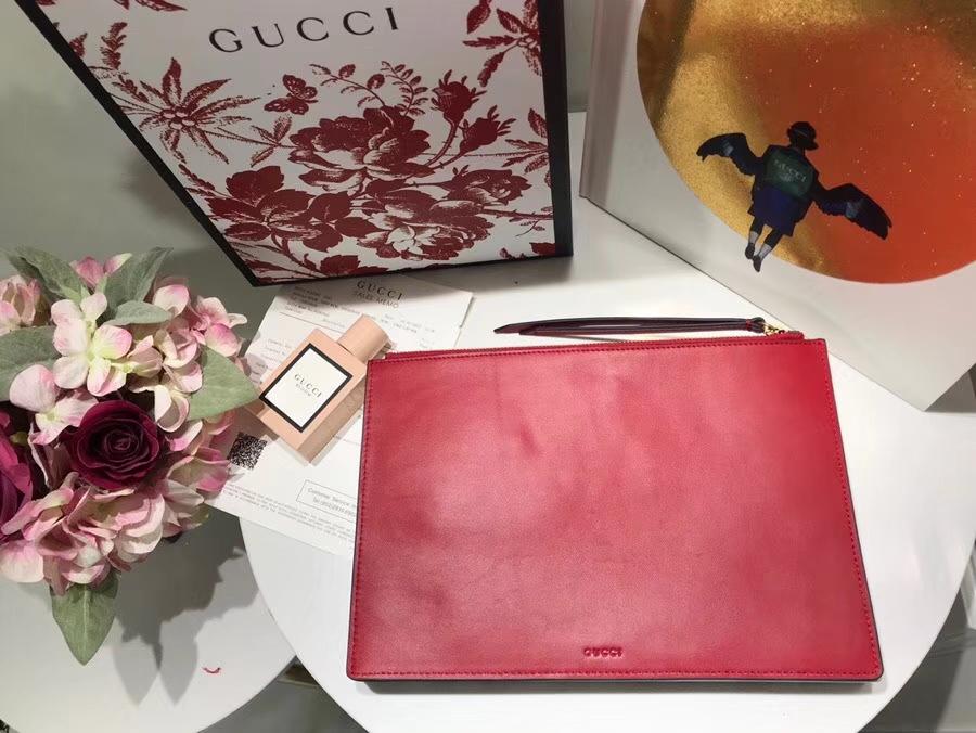 Gucci 特别推出以萌犬为主角的中国新年特别手包 506280 粉色 寻找青春的气息女性必备单品 30×20cm