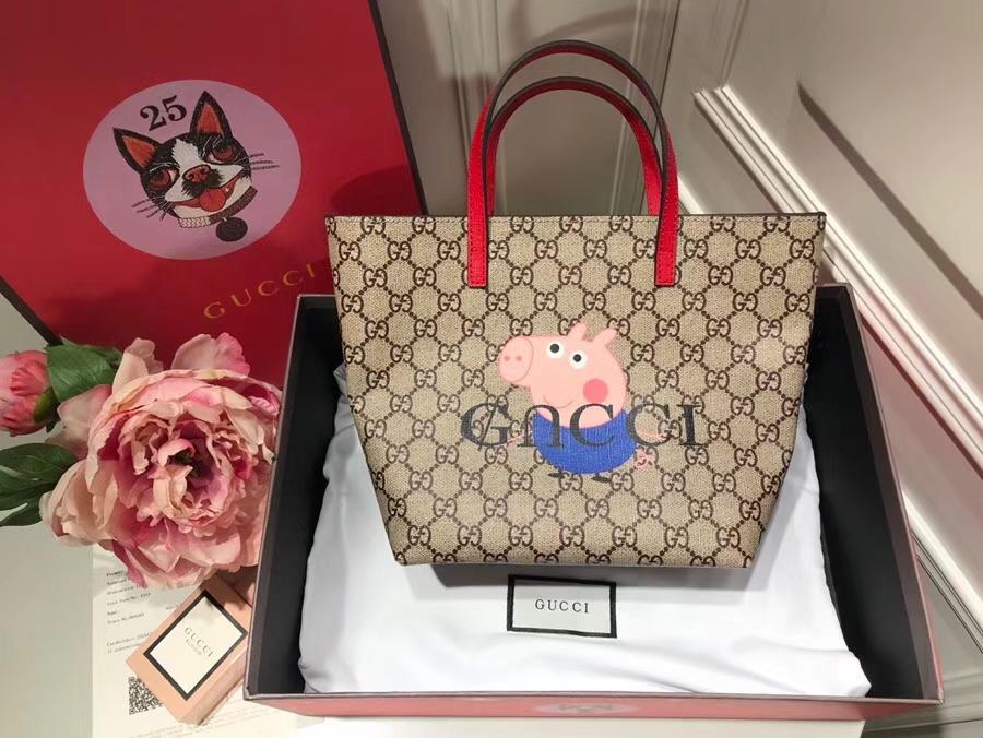 Gucci最萌的mini卡通购物袋 410812 红色手柄 撩翻你的少女,风靡时尚 21×20×10cm