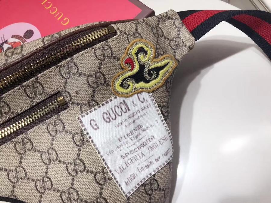 Gucci家瞩目的包包 493869 徽章标志时尚圈 明星同款 配专柜特属包装礼盒 28×18×8cm