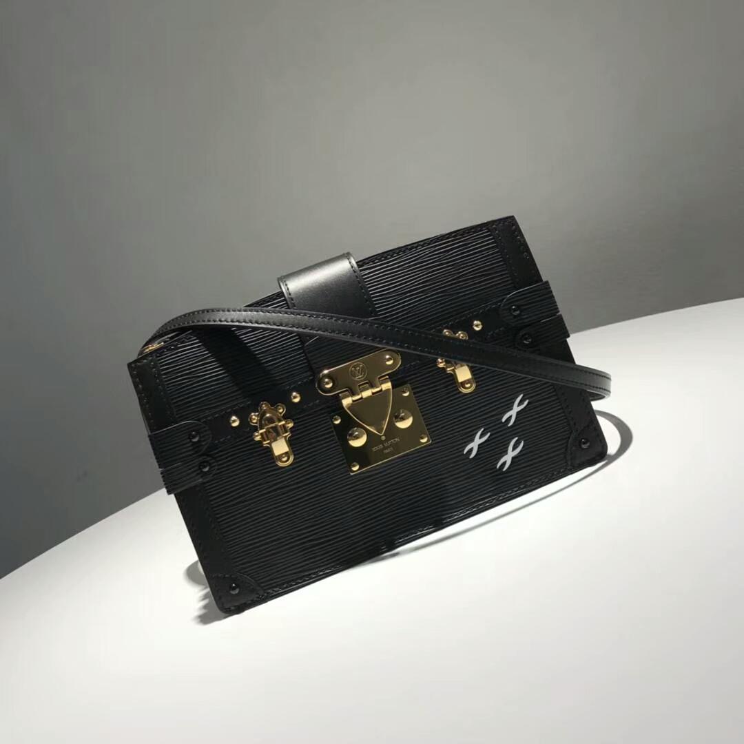 路易威登包包 LV复古设计软盒子 轻身容量大 黑色