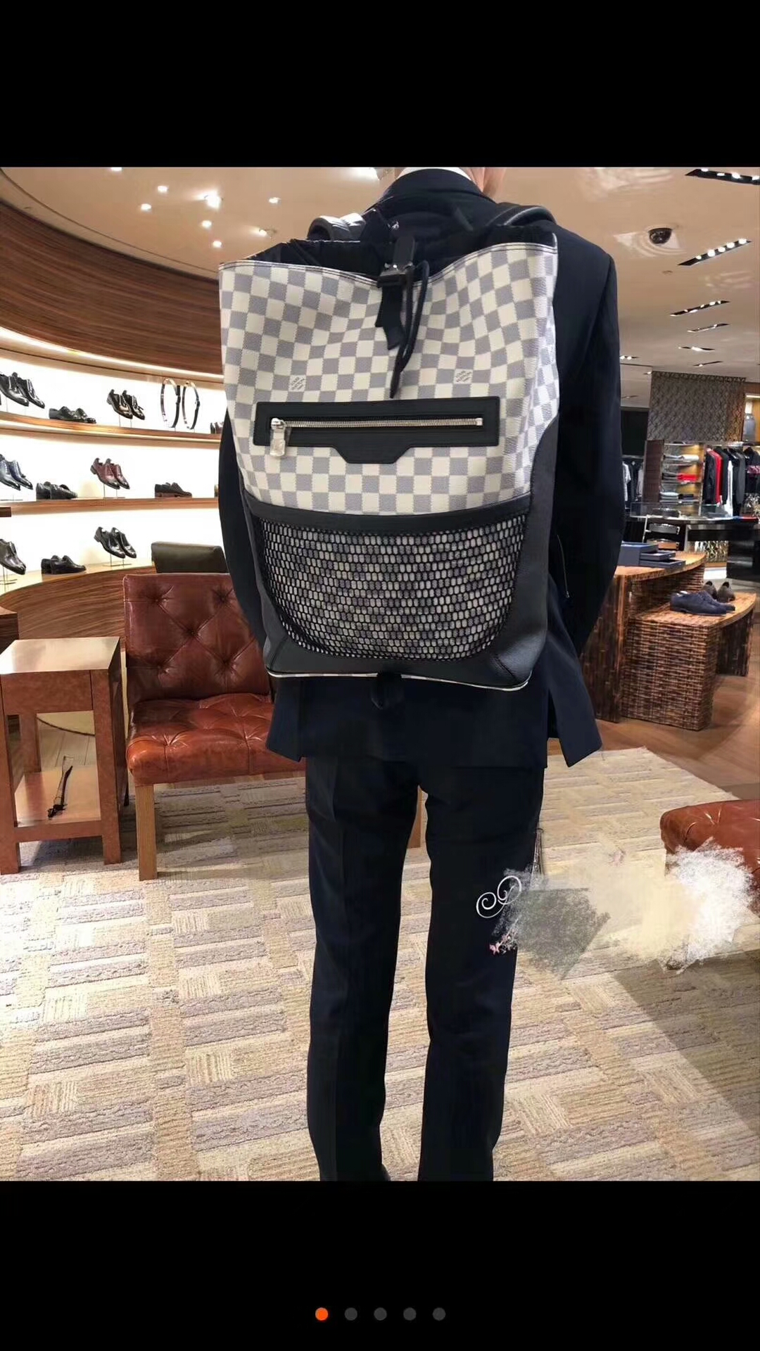 LV男包双肩包 LU MATCHPOINT双肩背包40018 都市时尚