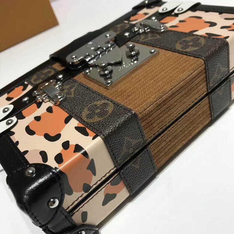 路易威登官网 LV百年经典盒子44154 豹纹印花 经典艺术品味