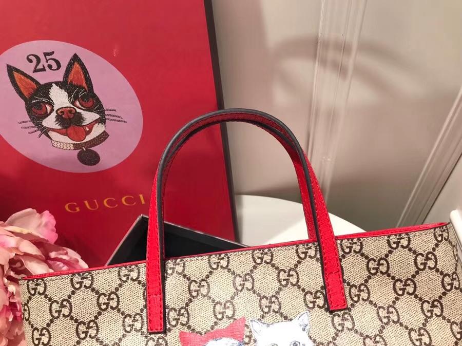 Gucci最萌的mini卡通购物袋 410812 撩翻你的少女心 风靡时尚 21×20×10cm