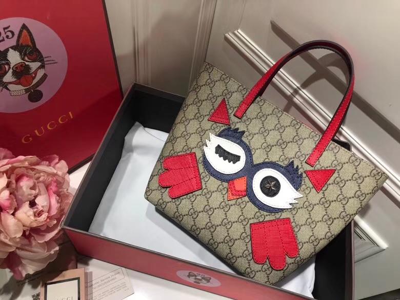 Gucci最萌的mini卡通购物袋 477488 红色 撩翻你的少女,风靡时尚 21×20×10cm