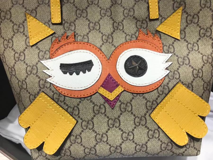 Gucci最萌的mini卡通购物袋 477488 黄色 撩翻你的少女,风靡时尚 21×20×10cm