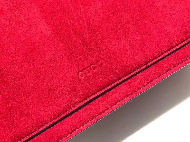 Gucci Dionysus 虎头扣磨砂皮酒神包 400235 红色 最火爆的酒神包浪漫风格 原单品质 30×21×10cm
