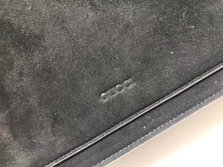 Gucci Dionysus 虎头扣磨砂皮酒神包 400235 黑色 最火爆的酒神包浪漫风格 原单品质 30×21×10cm