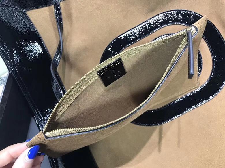 GUCCI 2018最新购物袋 超级大包很能装包配小pouch,519335 黑色双G图案,复古韵味 41×43×5.5cm