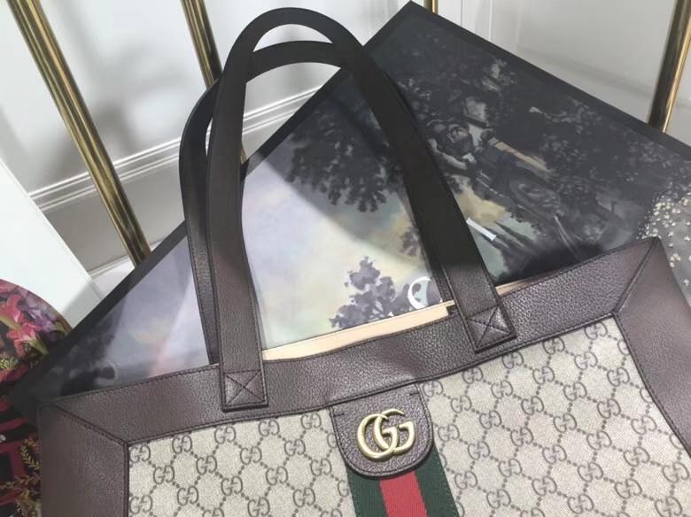 GUCCI 2018最新购物袋 超级大包很能装包配小pouch,519335 搭配红绿条,复古韵味 41×43×5.5cm