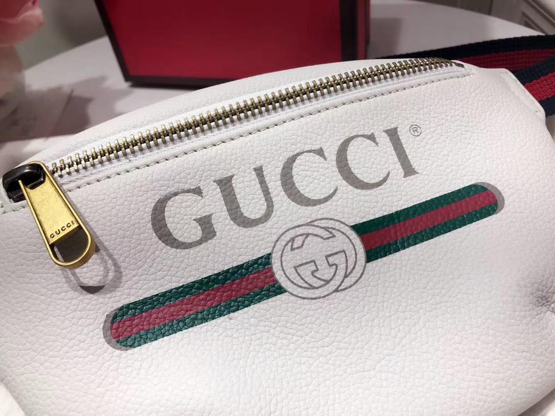 GUCCI爆款涂鸦腰包小号 527792 白色 超级mini可爱 俏皮甜美 特别适合女孩子 22×13×6cm