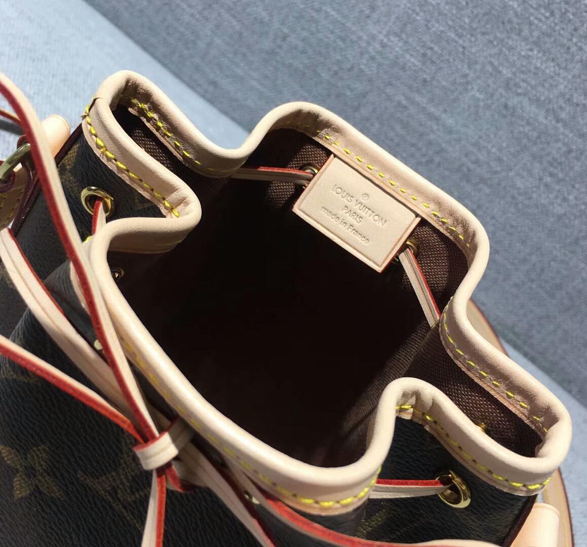 Louis Vuitton 迪丽热巴同款M41346 迷你水桶包 包包批发 老花