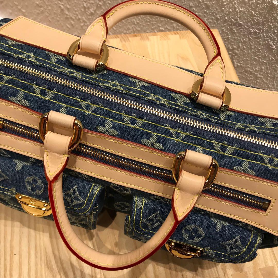广州白云皮具城 LV牛仔系列中古绝版限量款手提包44462 无论怎么搭配都超有范