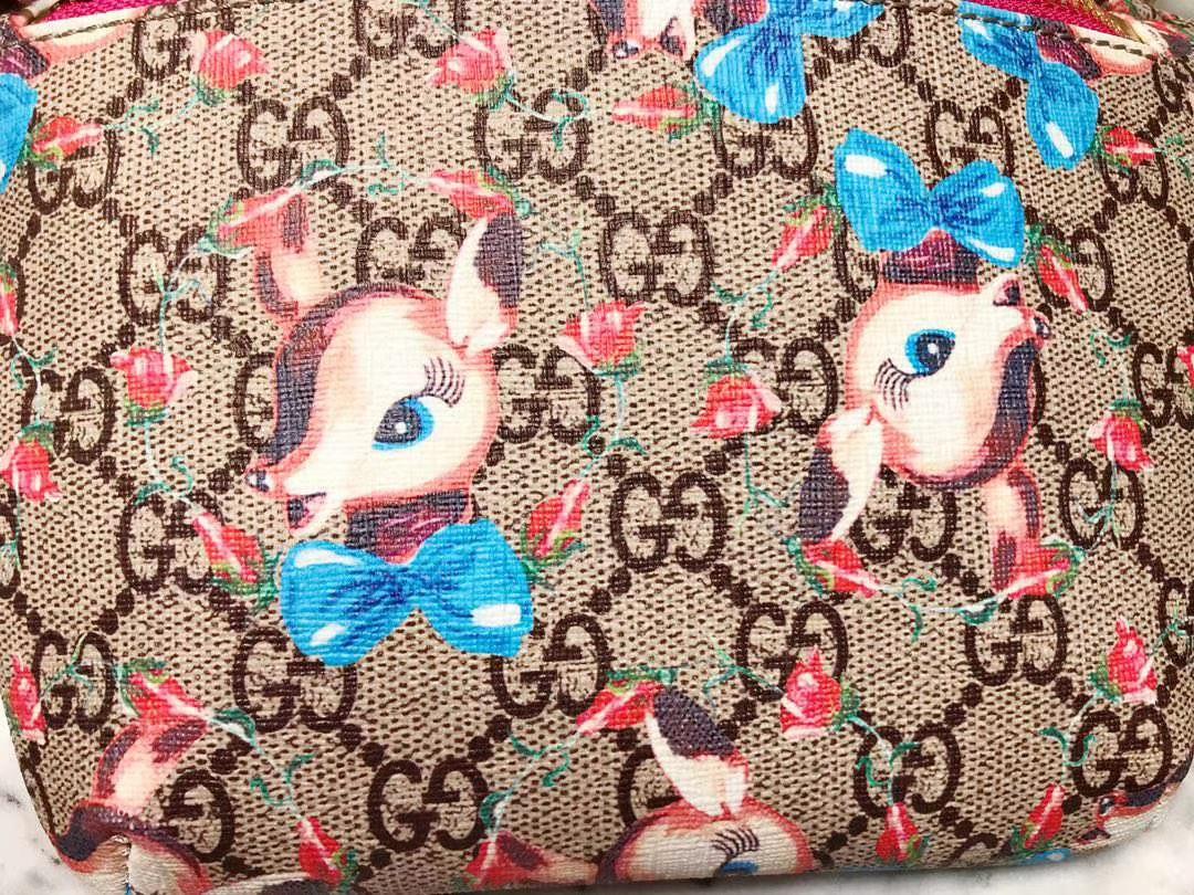 GUCCI 最新儿童腰包 502095 顶级原单货 可爱图案 大人也用 22×13×6cm
