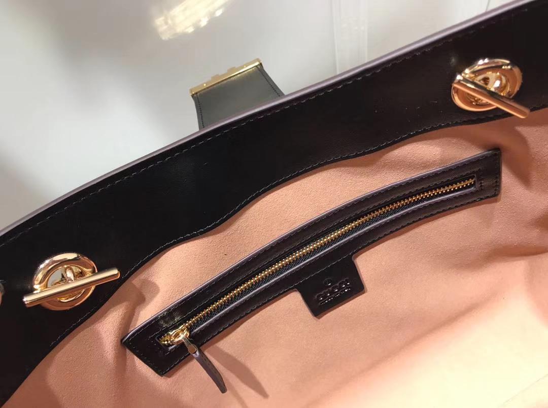 GUCCI(古驰)最新款百搭padlock最火包包 479197 复古色 犹如文艺少女的时光宝盒 35×23.5×14cm