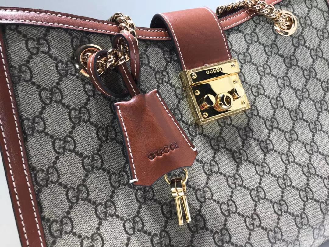 GUCCI(古驰)最新款百搭padlock最火包包 479197 复古啡色 犹如文艺少女的时光宝盒 35×23.5×14cm