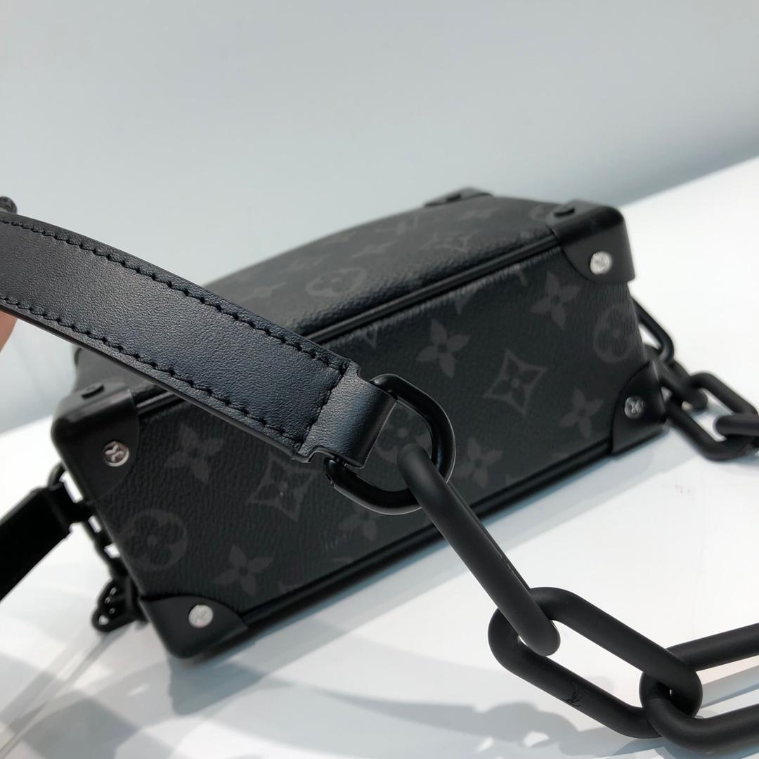 LV包包批发 设计师Virgil Abloh首发盒子小号黑花44435 时尚好看