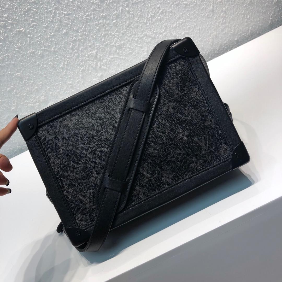 LV包包工厂 设计师Virgil Abloh入驻驴家首发单品 软盒子新版黑花44427