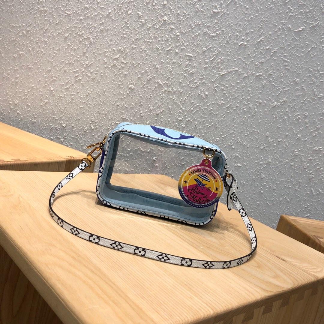 LV包包批发 透明的小方块包44420 颜值高 夏天百搭